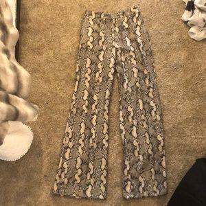 HOT wide leg snakeskin pants